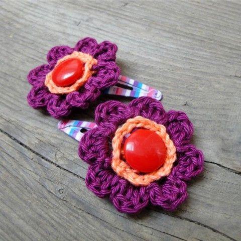 f893d37cca4 Kvítečko do vlasů kytičky sponky květinky sponečky lupačky prolamovačky  prolamovací lupací chrochetka