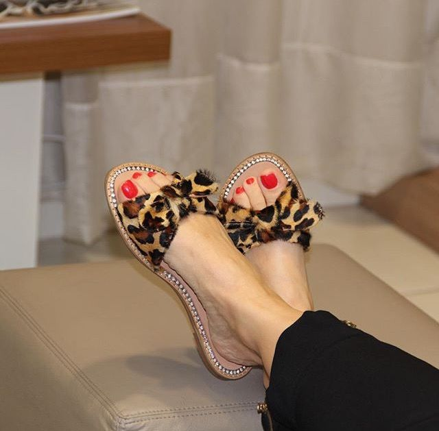 house slippers | Leopard shoes, Leopard