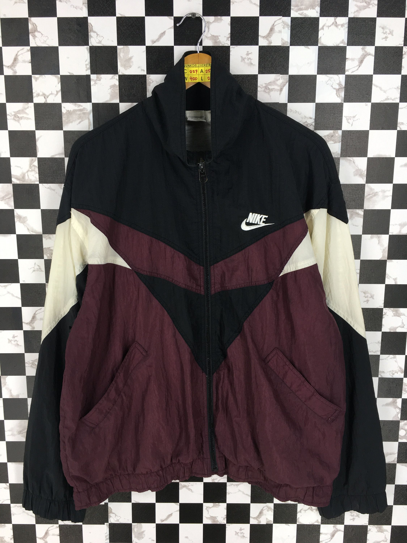 Vintage 1990 S Nike Multicolor Jacket Windbreaker Large Nike Acg Sport Training Athletic Nike Swoosh Sportswear Windrunner Jacket Size L Casual School Outfits Windrunner Jacket Retro Outfits