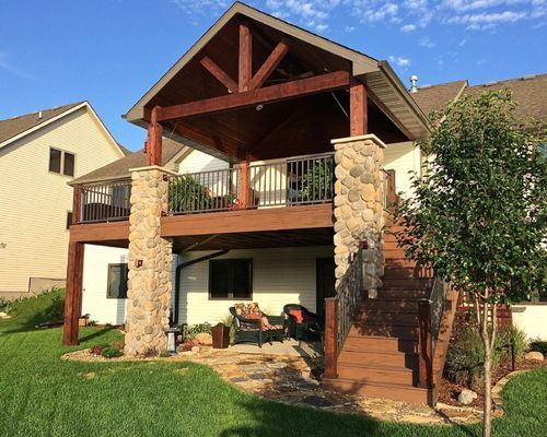 Best 2Nd Story Deck Stairs Home Design House With Porch 400 x 300