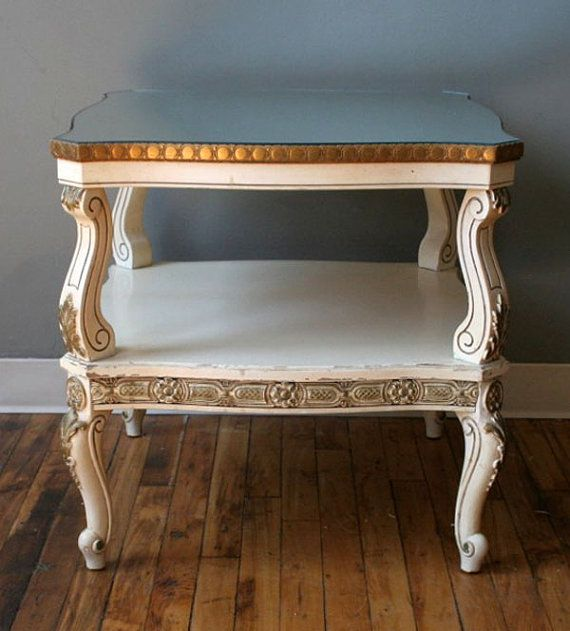 Best White French Country Provincial End Side Table By 400 x 300