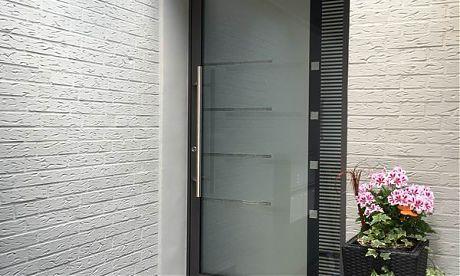 Haustüren Bielefeld haustür aluminium glashaustür mit sonderglas mester aus