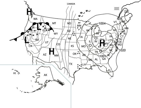 YES! How to read a weather map, printable with questions