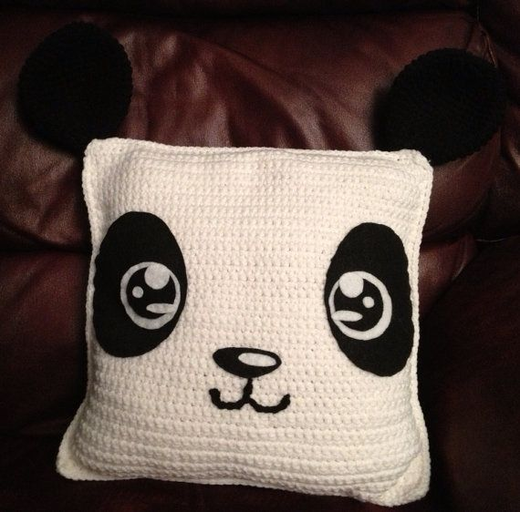 DIY PDF Crochet Panda Pillow Pattern Medium by comodoknitwear ...