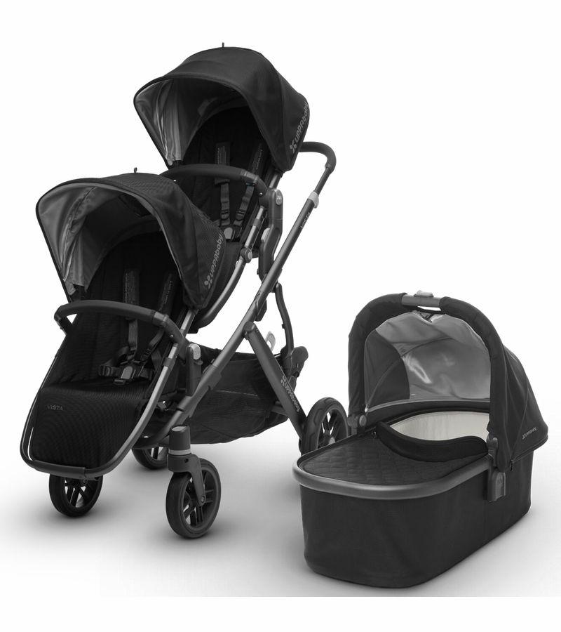 UPPAbaby 2017 Vista Double Stroller Jake Black/Carbon in