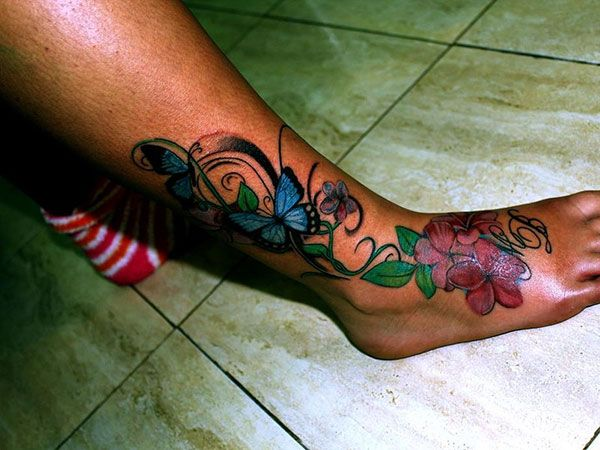 pretty ankle tattoos | 25 Exciting Leg Tattoos For Women ...