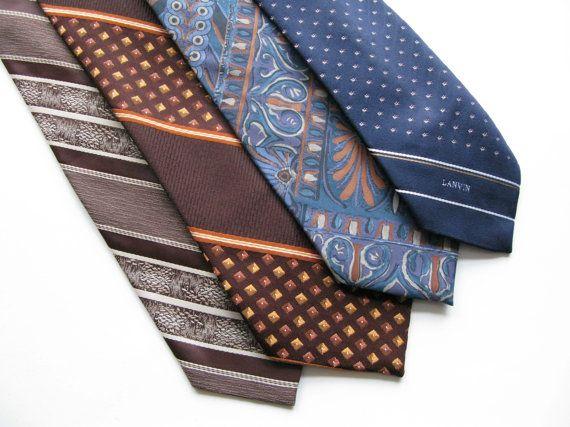 58ec7d56ba69 Vintage Neckties, Lot of Four Vintage Ties, Destash Lot of Neckties ...