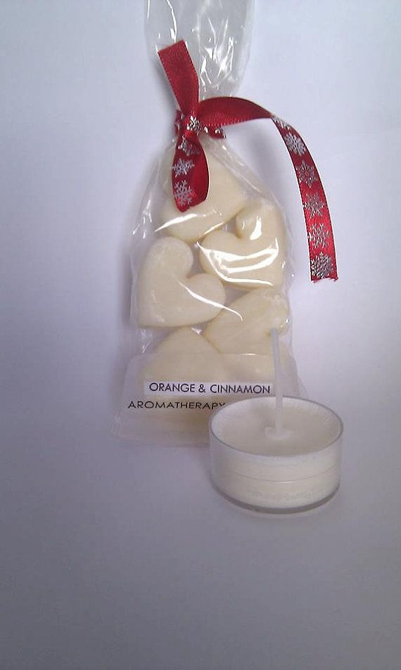 5 x 100% Natural Eco-friendly Wax Melts / Hearts by NoGooNaturals