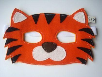 Tiger felt kids mask