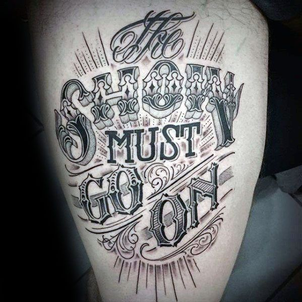 60 Typography Tattoos For Men - Word Font Design Ink Ideas