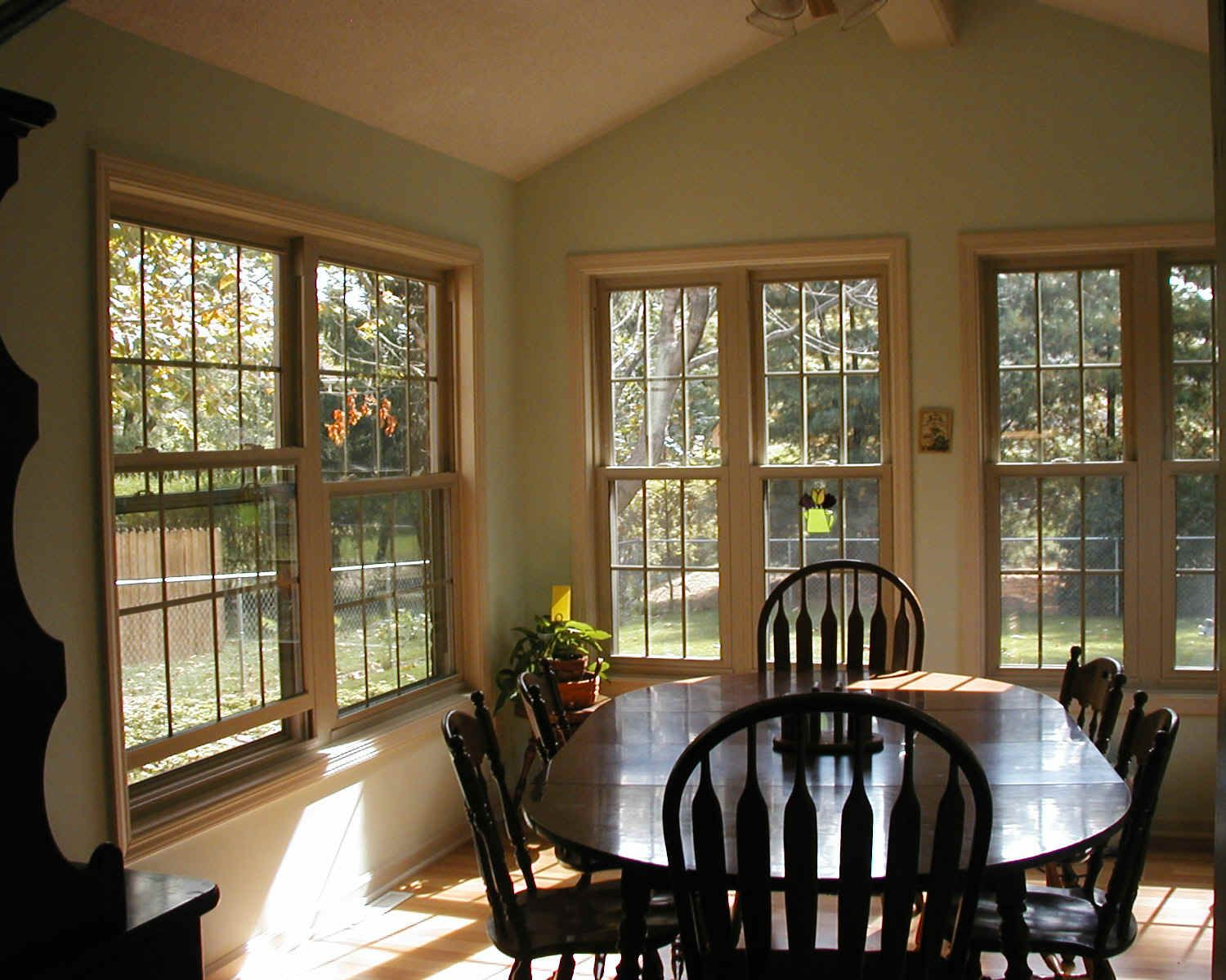 Addition   Dining Room With Vaulted Ceiling.