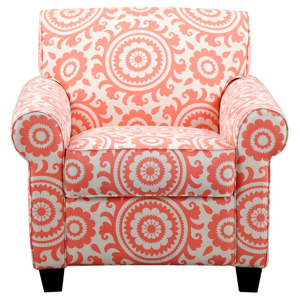 Handy Living Upholstered Chair Coral (Pink)