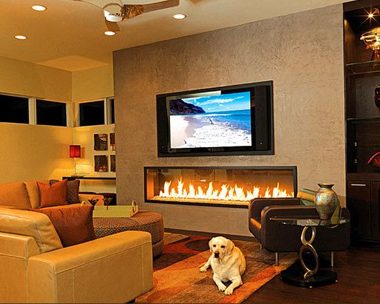 Adding the dazzling fireplace to warm your home interior design contemporary living room with - Contemporary fireplace insert for a warm living room ...