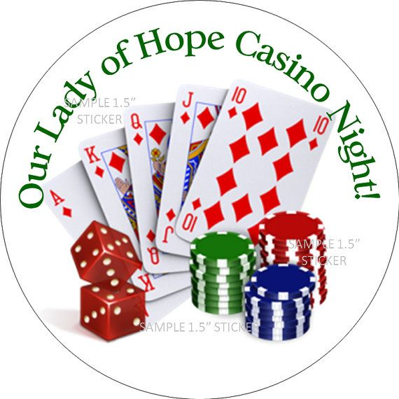 Personalized Casino Poker Vegas Night 15 inch by PartyCelebrations, $6.99