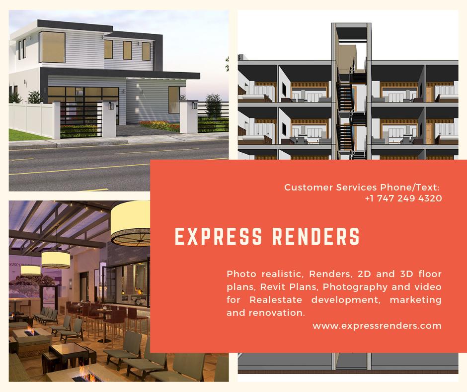 Photo Realistic Renders 2d And 3d Floor Plans Revit Plans