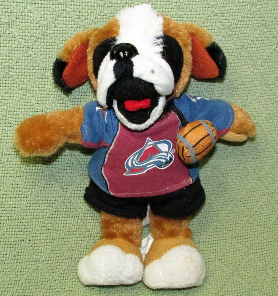 "10"" COLORADO AVALANCHE NHL BERNIE ST. BERNARD MASCOT"
