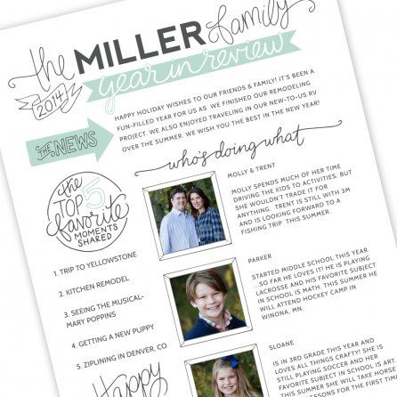 Family Newsletter Template By Jamie Schultz Designs  Christmas