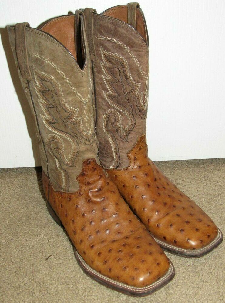3bbd1898483 eBay Sponsored) DAN POST FULL QUILL OSTRICH Cowboy Boots Mens 10 ...