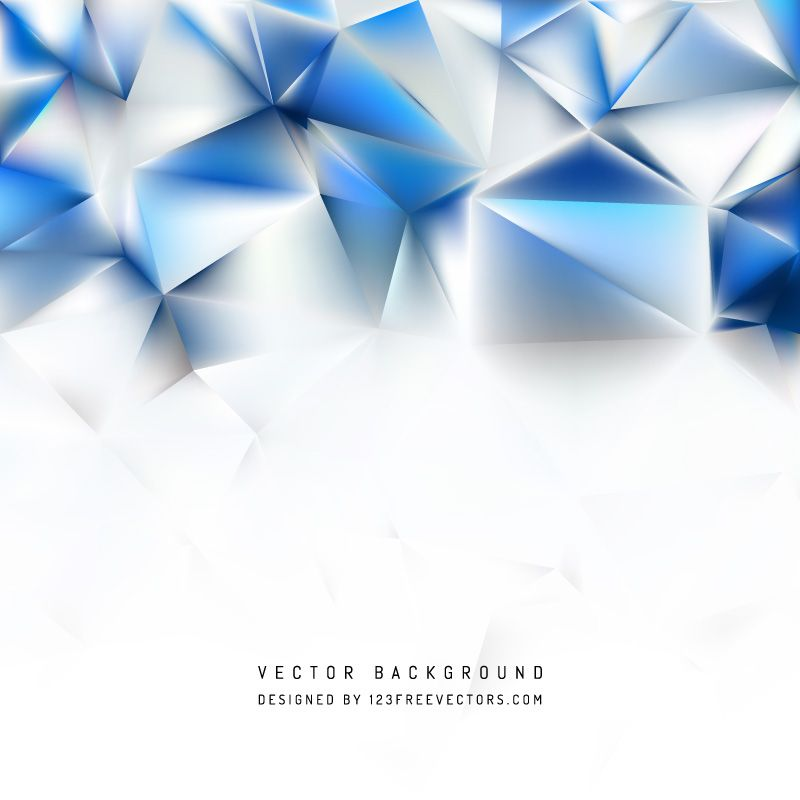 Abstract Blue White Polygon Pattern Background Polygon Pattern