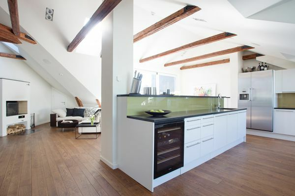 Küche Wohnzimmer Zusammen dachapartment einrichten küche und wohnzimmer zusammen