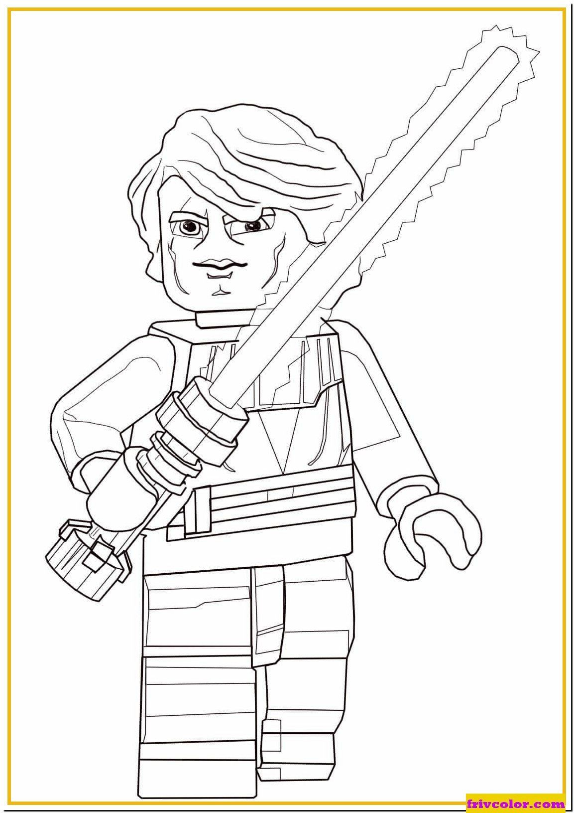 Lego Starwars Coloring Page Lego Star Wars Anakin Skywalker Friv Free Coloring Pages Lego Star Wars Star Wars Colors Lego Coloring Pages