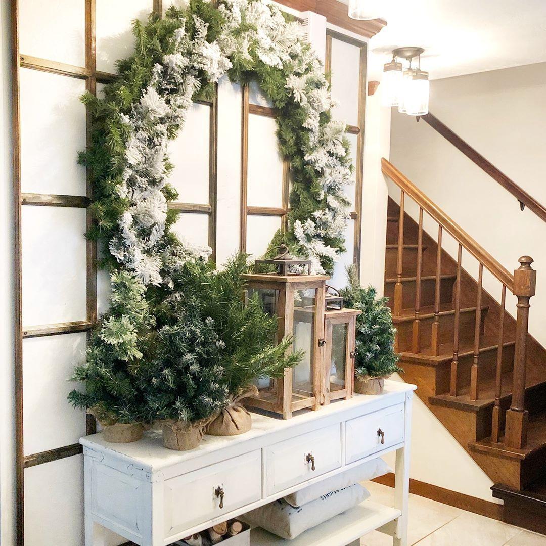 20+ frische Weihnachts-Eingangsbereich-Dekorationsideen 2020! – Seite 8 von 27 Künstliche …