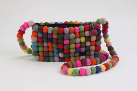 Fair Trade Peruvian Jewelry Hand-Painted /& Beaded Indigo Bunting Bird Earrings