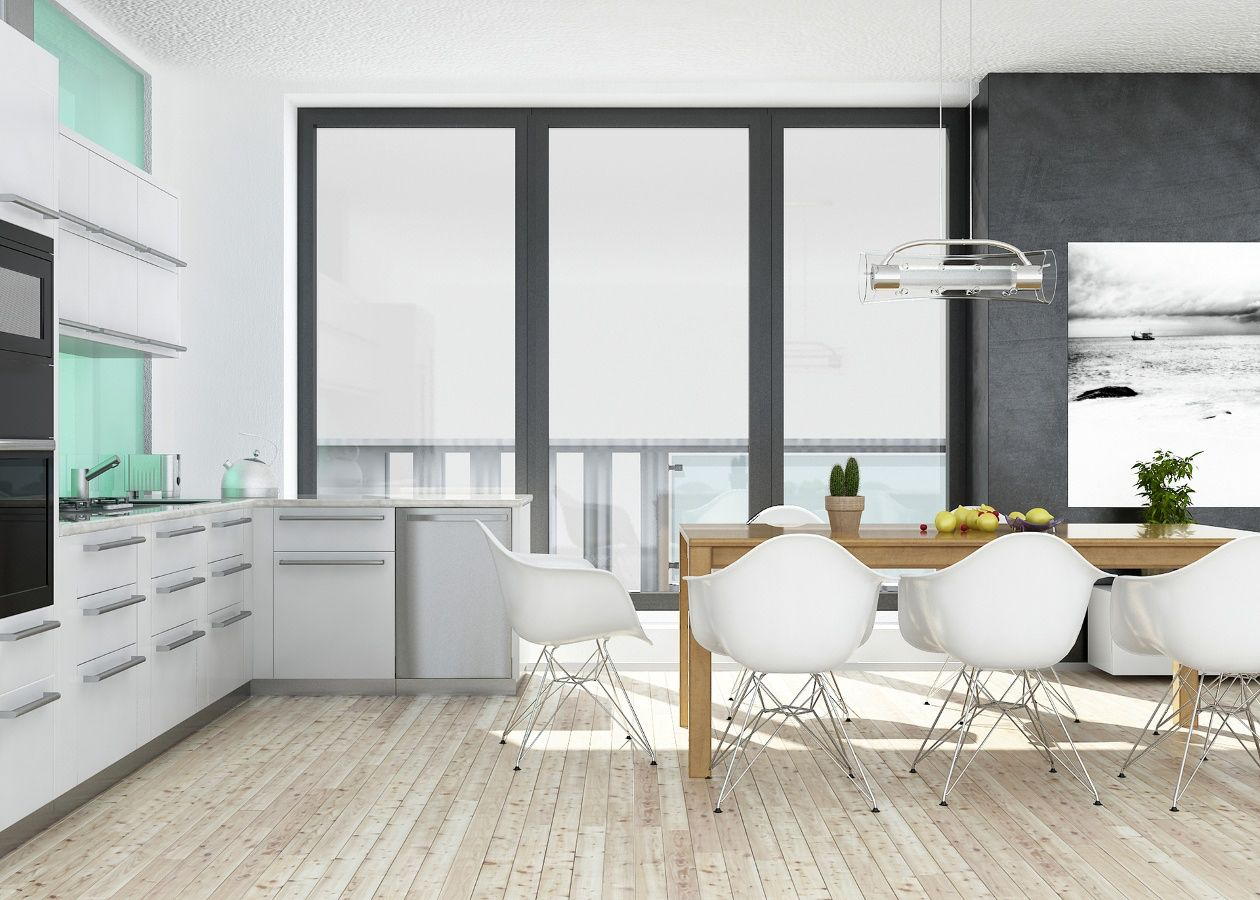 Kitchen: Rehau Rauvisio Crystal cabinetry and doors. https://www ...