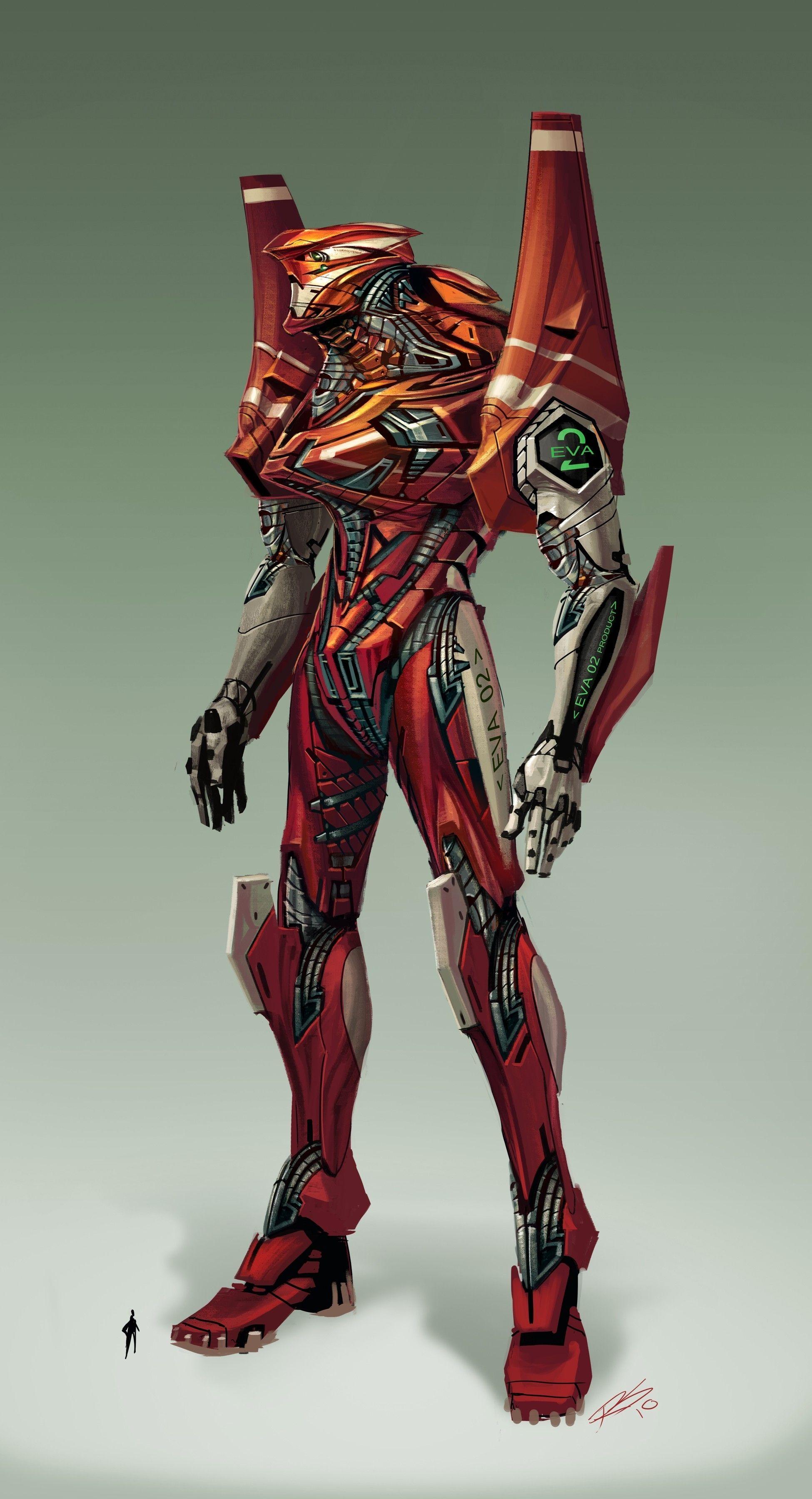 Eva Unit 02 Con Imagenes Personajes Ilustracion