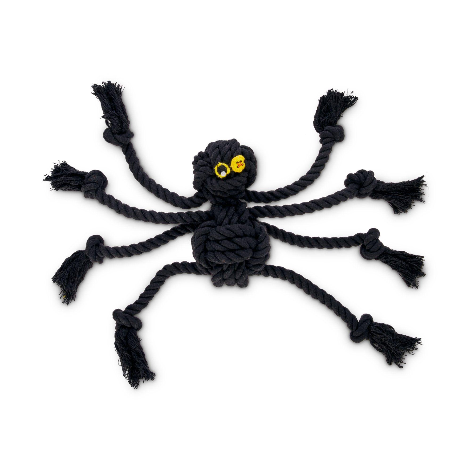 Bootique Creepy Crawler Rope Dog Toy Medium Black Rope Dog
