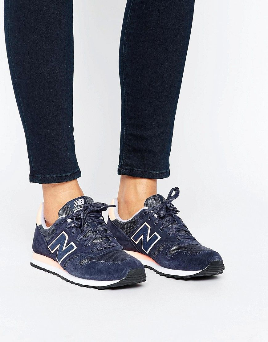new balance 373 blue suede