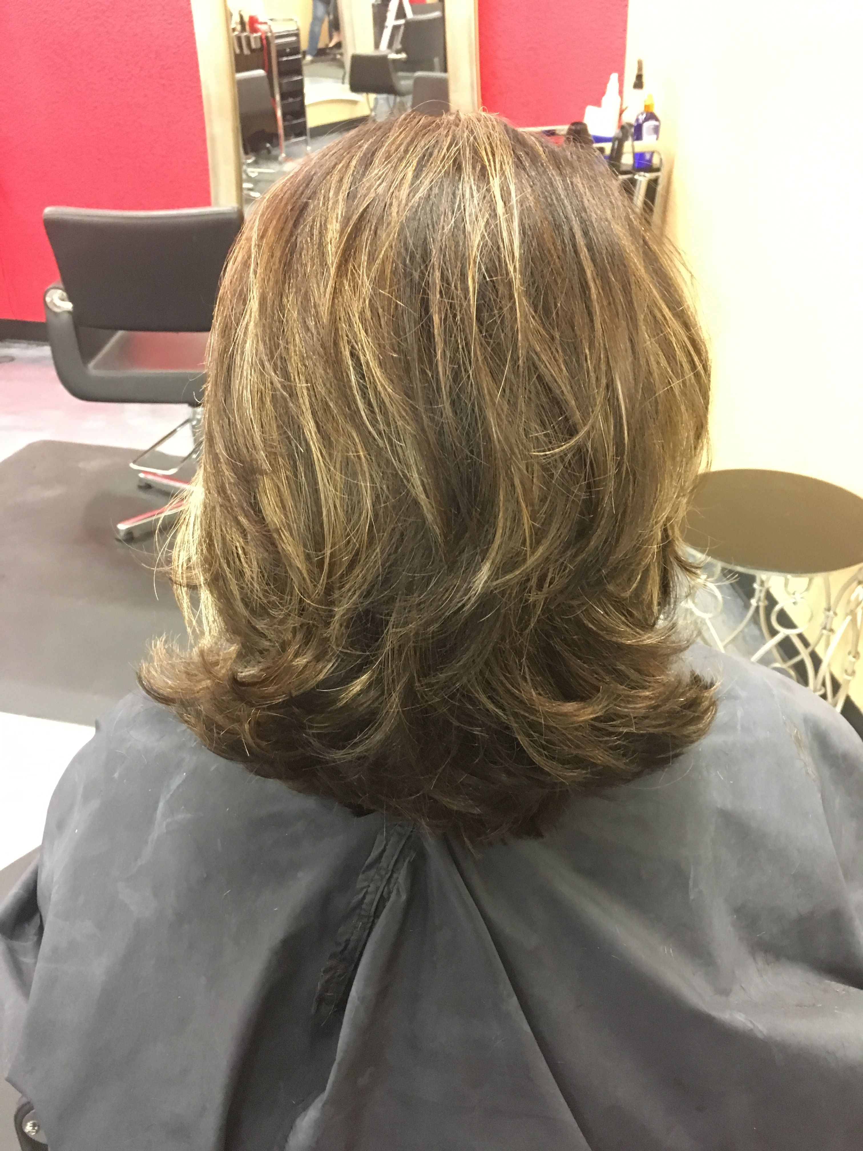 The Back Of My New Do Coming Away From An Abrupt Ombre Nice Subtle High And Low Lights The Fixx Las Cruces High And Low Lights Low Lights Hair