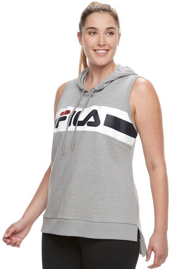 887f28743ca FILA SPORT Plus Size FILA Sport® Sleeveless Hoodie