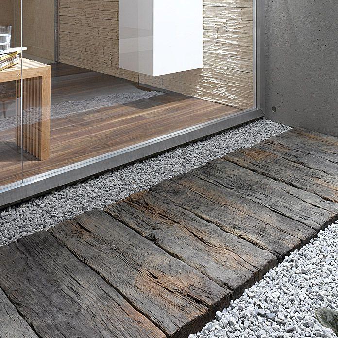 Ehl Gehwegplatte Beton Bahnschwelle Naturbraun 22 5 X 67 5 X 5 Cm Stonewood Betonplatten Holzoptik Terassenplatten Terrassenplatten