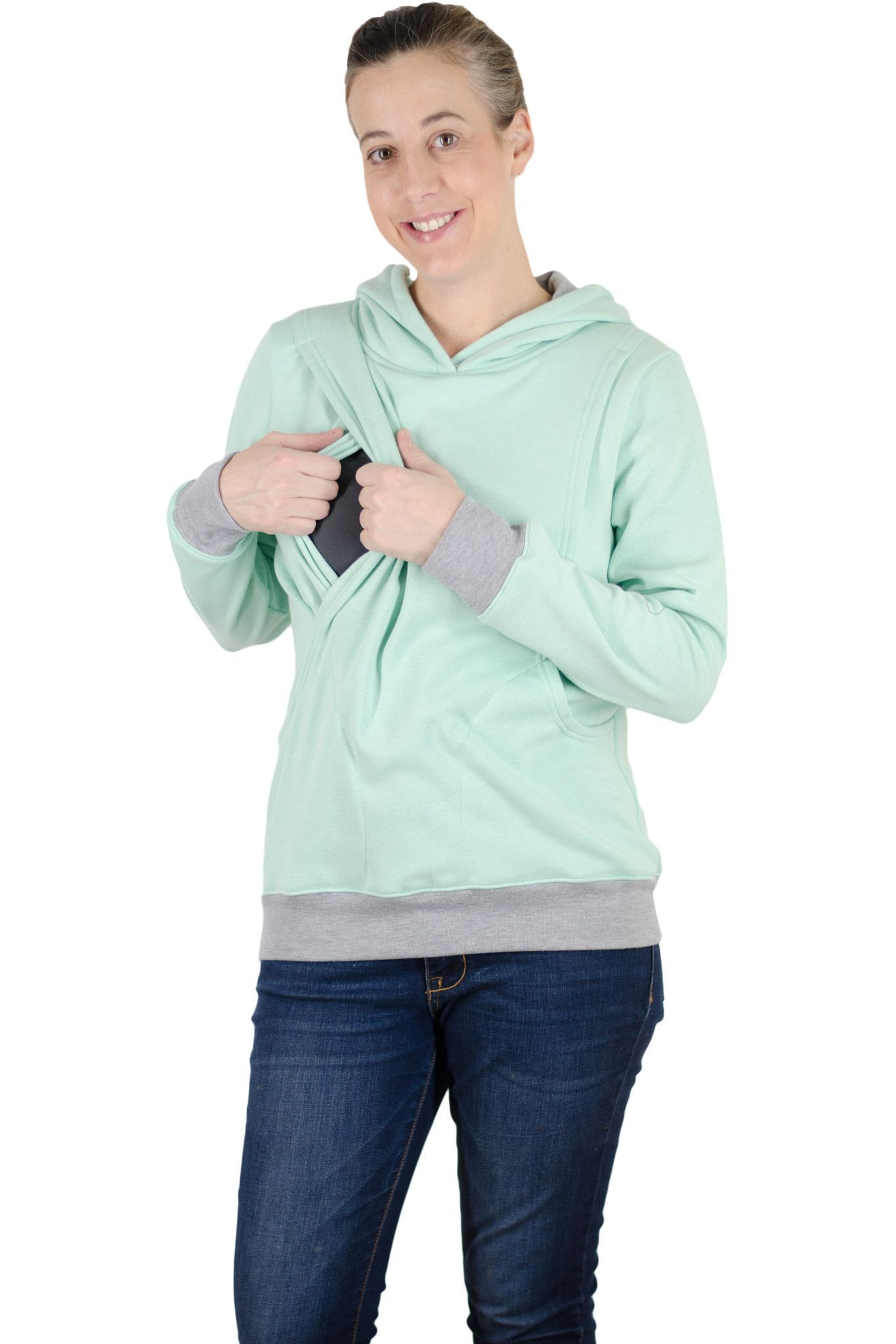 2f8f6750f54e8 The Latched Mama Hoodie is heavier than our lightweight style and much  warmer. It has a typical