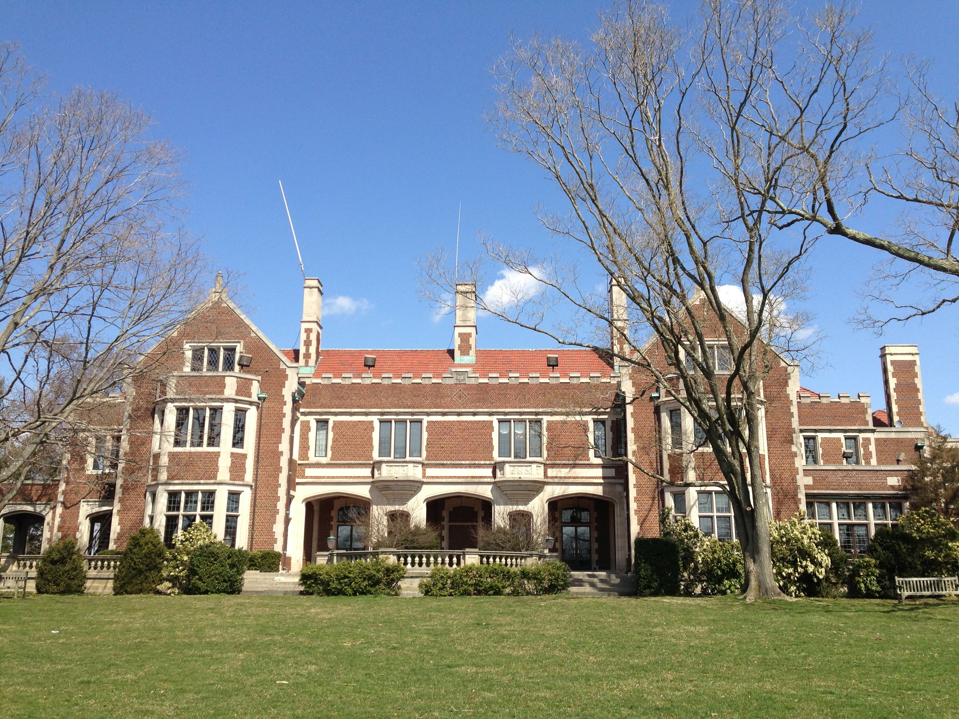 Waveny Castle, New Canaan, Ct, Back View
