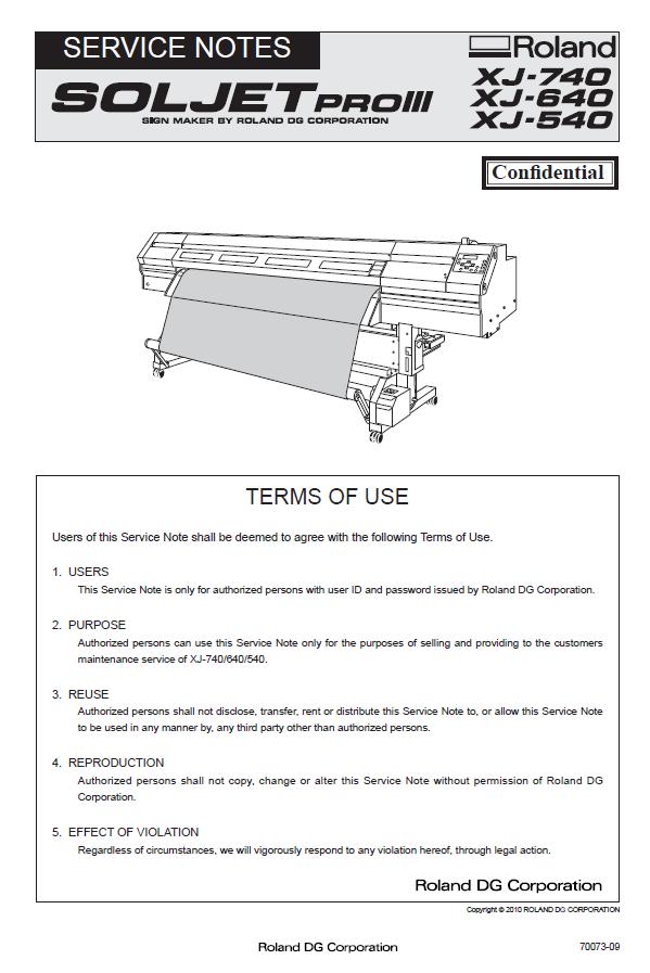 Roland Soljet Pro Xj 740 Xj 640 Xj 540 Pdf Service Repair Manual Repair Manuals Manual Repair