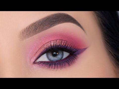 soft everyday purple eyeliner eye makeup tutorial