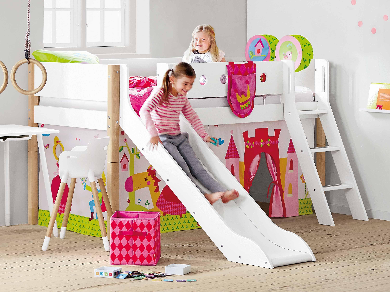 Das Halbhohe Bett White Von Flexa Bietet Kindern Eine Praktische
