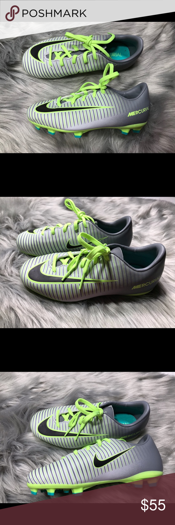Nike JR Mercurial Soccer Cleats 12c and
