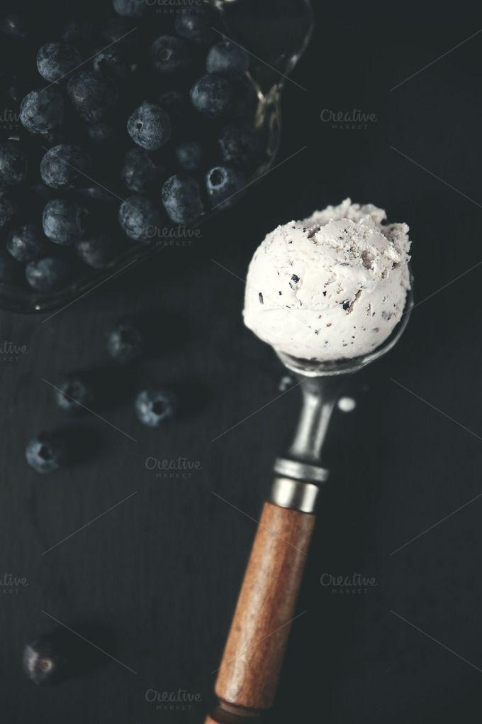 Blueberry Ice Cream Still Life Blueberry Ice Cream Ice Cream Drink Photo