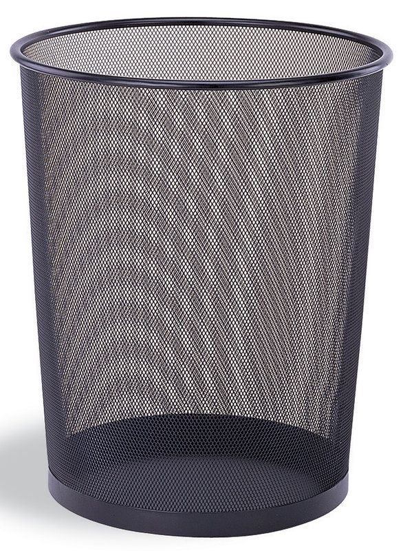 Organize It All 42167w B Mesh Design Round Wastebasket Black Trash Cans Indoor Mesh Waste Basket Bedroom Trash Can Trash Can