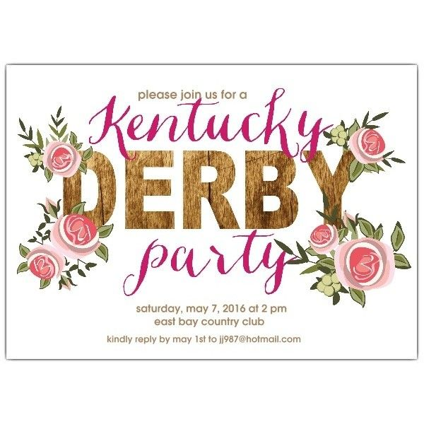 Rustic Roses Kentucky Derby Party Invitations ($25) ❤ liked on Polyvore featuring home, home decor, rose home decor, rustic home decor and rustic home accessories