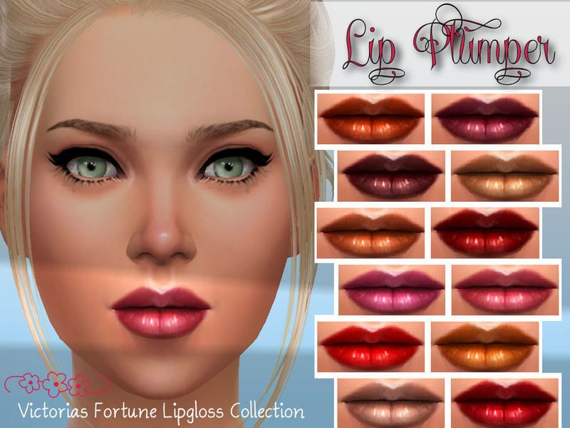 Here are 12 new colors of lip plumping lipgloss for your favorite sim! I hope you enjoy them! Found in TSR Category 'Sims 4 Makeup sets'