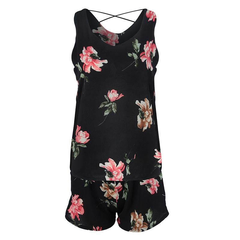 New suit Floral chiffon Shorts Female beach casual #chiffonshorts