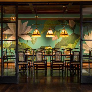 Le Colonial Houston Tropical Home Decor Custom Dining Tables