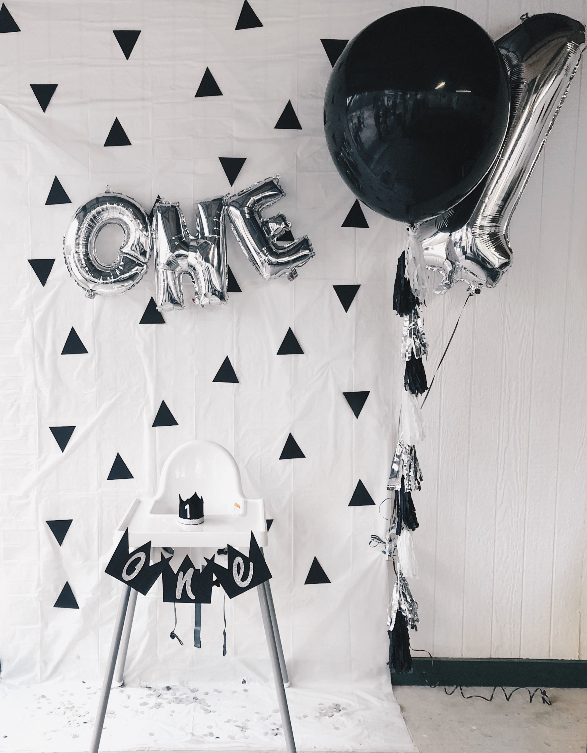 Monochrome Boys 1st Birthday Party Ideas Baby Boy 1st Birthday Party Baby Boy First Birthday