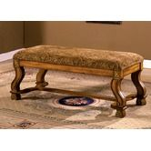 Found it at Wayfair - Vale Royal Solid Wood Bench in Antique Oak  Perhaps at the end of our bed...?