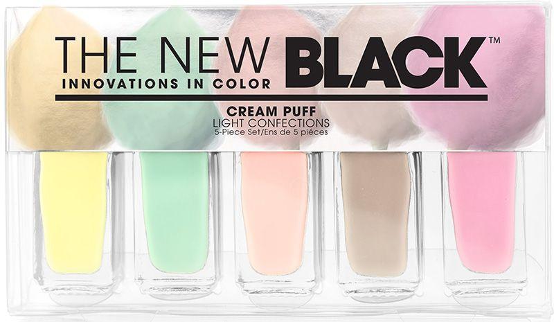 The New Black, Cream Puff - 5-Piece Pastel Nail Polish Set $22