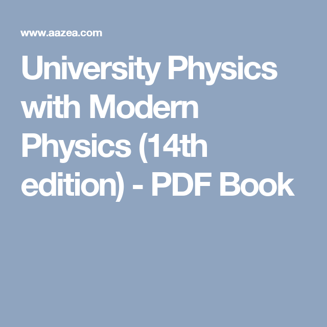 University Physics With Modern Physics 14th Edition Pdf Book